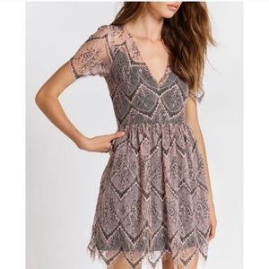 Free People She's So Lovely Lace Mini Dress xs 0